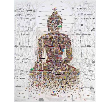 Gonkar Gyatso - Buddha in Our Times courtesy of TAG Fine Arts