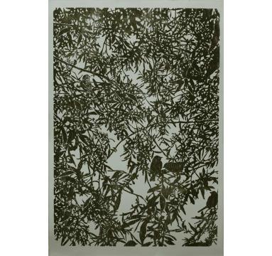 Chris Humphreys - Mixed Birds (Green) courtesy of TAG Fine Arts