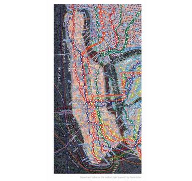 Paula Scher - NYC Transit - Courtesy of TAG Fine Arts