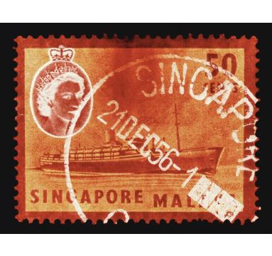 Heidler & Heeps - 50 Cents QEII Steamer Ship Orange - courtesy of TAG Fine Arts