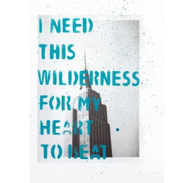 Adam Bridgland - I Need This Wilderness (Empire State Blue) - courtesy of TAG Fine Arts