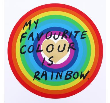 Adam Bridgland - My Favourite Colour Is Rainbow (Gold Heart) - courtesy of TAG Fine Arts.jpg