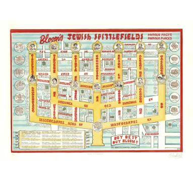 Adam Dant - Map of Jewish Spitalfields - courtesy of TAG Fine Arts