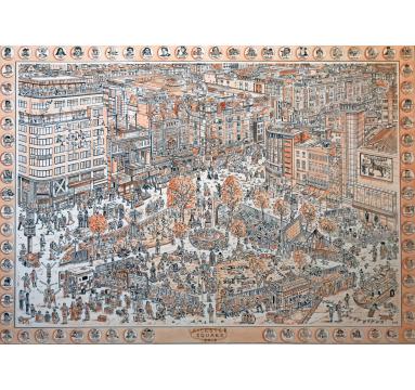 Adam Dant - Leicester Square - courtesy of TAG Fine Arts