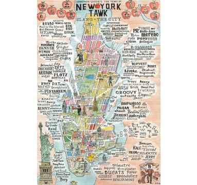 Adam Dant - New York Tawk - courtesy of TAG Fine Arts