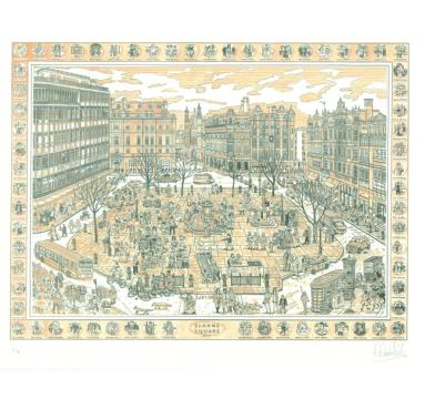 Adam Dant - Sloane Square - courtesy of TAG Fine Arts