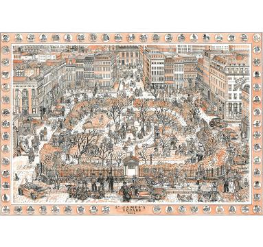 Adam Dant - St James's Square - courtesy of TAG Fine Arts