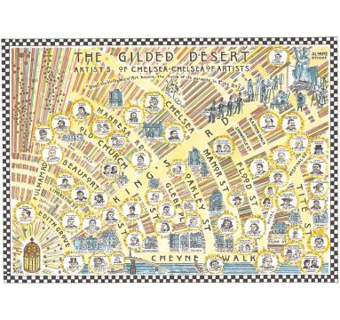 Adam Dant - The Gilded Desert - courtesy of TAG Fine Arts