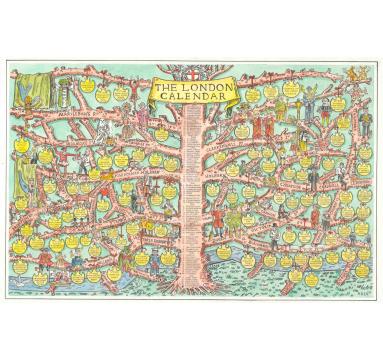 Adam Dant - London Calendar Colour - Courtesy of TAG Fine Arts