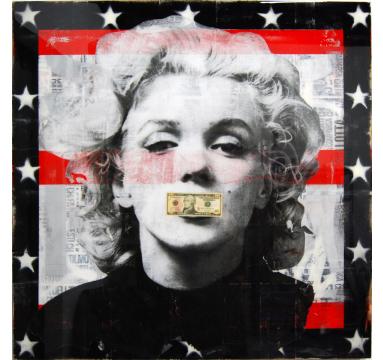 Ashleigh Sumner - Dead Marilyn ($10 Bill) - courtesy of TAG Fine Arts