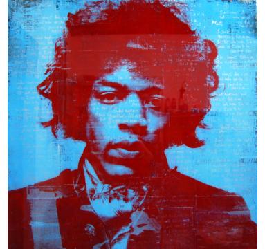 Ashleigh Sumner - Jimi Was A Rockstar (Variant) - courtesy of TAG Fine Arts