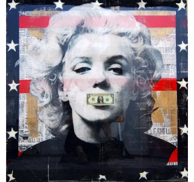 Ashleigh Sumner - Dead Marilyn (Black) - courtesy of TAG Fine Arts