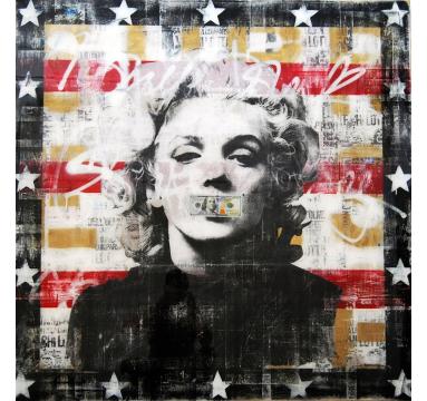 Ashleigh Sumner - Marilyn (Black, Red & Gold) - courtesy of TAG Fine Arts