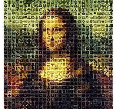 Brett Goldstar - Emoji Lisa (Mona Lisa) - courtesy of TAG Fine Arts