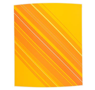 Christian Newton - Painted Curve No.13 (Orange) - courtesy of TAG Fine Arts