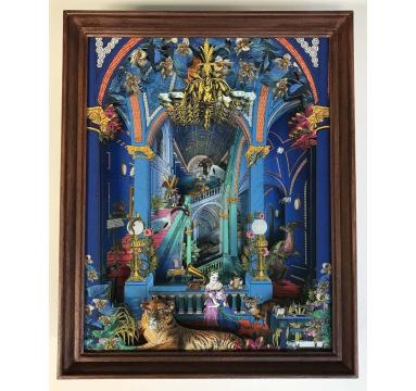 Kristjana S Williams - Cobalt Blue Palace Diorama - courtesy of TAG Fine Arts