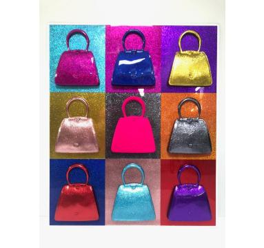 Debra Franses Bean - Glitterati 3 (Pink Flock) - courtesy of TAG Fine Arts