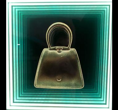 Debra Franses Bean - Infinity Gold Glitter Bag - courtesy of TAG Fine Arts