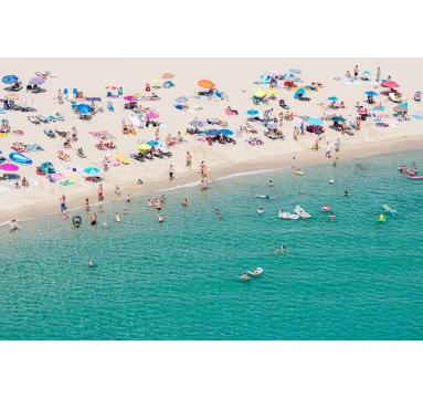 Dede Johnston - Crowded Beach I - courtesy of TAG Fine Arts