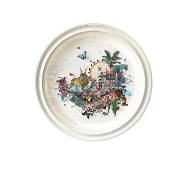 Kristjana S Williams - Singapore Lion Steina Palms - Original - courtesy of TAG Fine Arts
