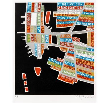 Stanley Donwood - Metallic Manhattan courtesy of TAG Fine Arts