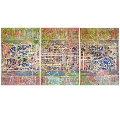 Emma Johnson - Central Park (Triptych) - courtesy of TAG Fine Arts
