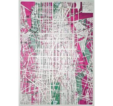 Emma Johnson - Manhattan Gridlock - courtesy of TAG Fine Arts