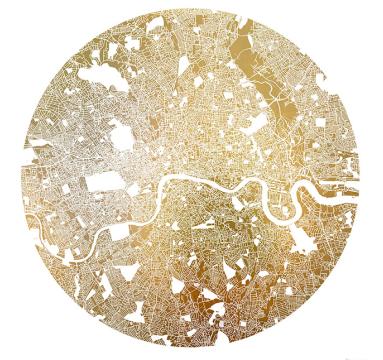 Ewan David Eason - Mappa Mundi London (White) - courtesy of TAG Fine Arts