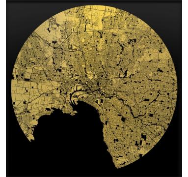 Ewan David Eason - Melbourne (Black) - courtesy of TAG Fine Arts