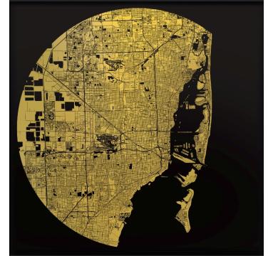 Ewan David Eason - Miami (Black) - courtesy of TAG Fine Arts