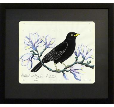 Fran Giffard - Blackbird and Magnolia - courtesy of TAG Fine Arts