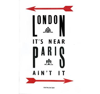 Helen Ingham - London It's Near Paris courtesy of TAG Fine Arts