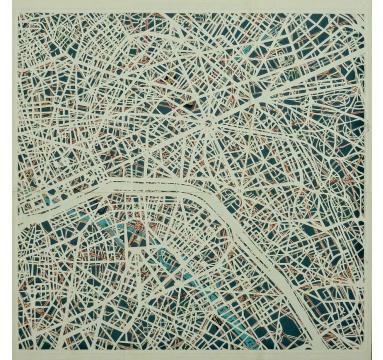 Emma Johnson - Plan de Paris - TAG Fine Arts