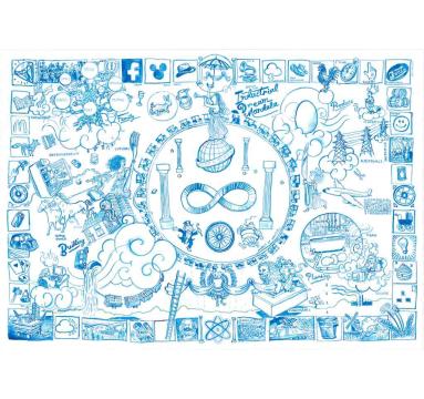 Josh Knowles - (Sketch for) Industrial Dream Mandala - courtesy of TAG Fine Arts