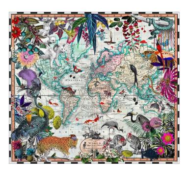 Kristjana S Williams - V&A Chart Map of the World - courtesy of TAG Fine Arts