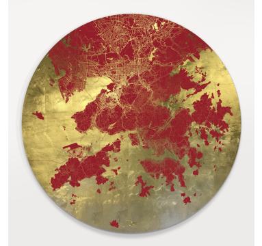 Ewan David Eason - Mappa Mundi Hong Kong (Red) - courtesy of TAG Fine Arts