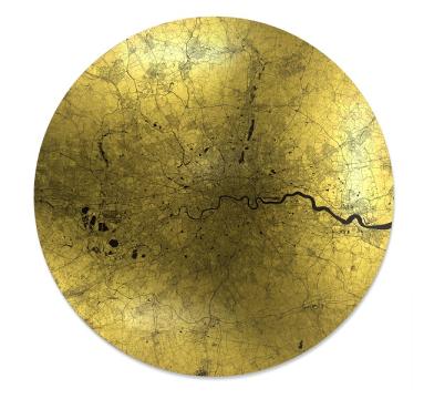 Ewan David Eason - Mappa Mundi Maior Londinium (Black) - courtesy of TAG Fine Arts
