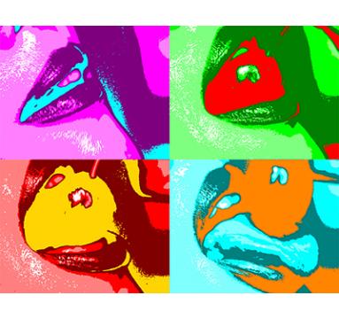 Natalie Goldstein - Cherry Lips (Warhol) - courtesy of TAG Fine Arts