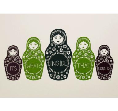 Hazel Nicholls - It's What's Inside (Three colour) - courtesy of TAG Fine Arts