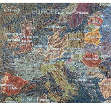 Paula Scher - Europe - courtesy of TAG Fine Arts