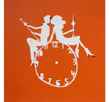 Rob Ryan - Clock Couple - courtesy of TAG Fine Arts