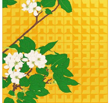 Robin Duttson - Apple Blossom Graphic Impression 2 - courtesy of TAG Fine Arts