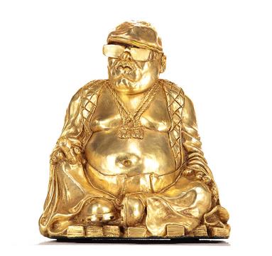 Ryan Callanan - Buddha Smalls (Gold) - courtesy of TAG Fine Arts