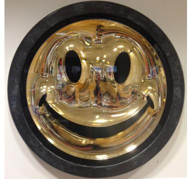 Ryan Callanan - Chrome Gold Smiley - courtesy of TAG Fine Arts