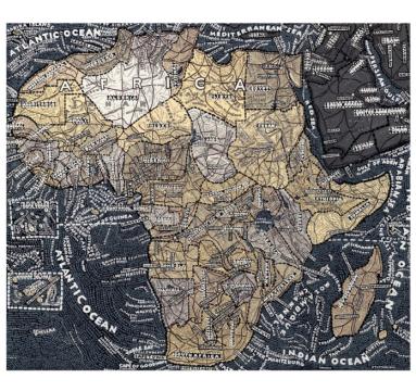 Paula Scher - Africa - Courtesy of TAG Fine Arts