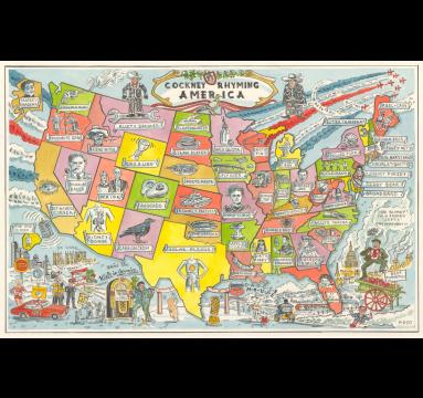 Adam Dant - Cockney Rhyming America - Courtesy of TAG Fine Arts