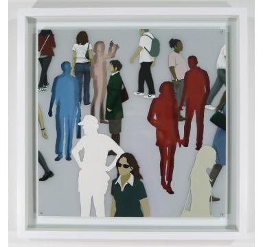 Steven Marshall - Glasswork (Grey Sq.) - courtesy of TAG Fine Arts