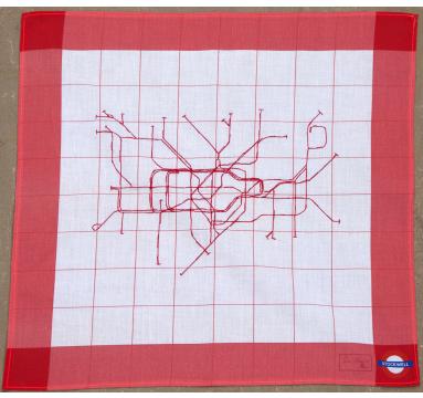 Susan Stockwell - Underground Map - Handkerchief Courtesy of TAG Fine Arts