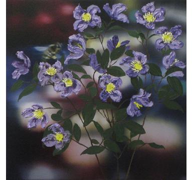Sumiko Seki - Bee & Purple Clematis - courtesy of TAG Fine Arts