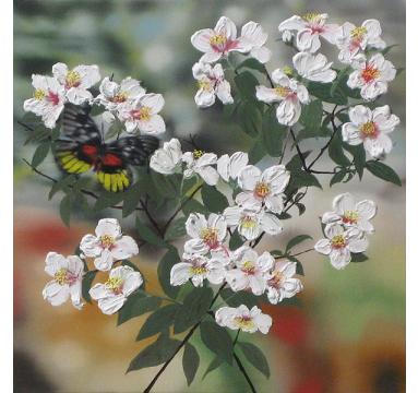 Sumiko Seki - Decoration White Butterfly & Belle Etoile - courtesy of TAG Fine Arts